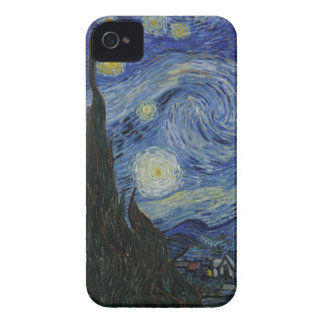 De la noche estrellada de la casamata el iPhone 4 iPhone 4 Protectores