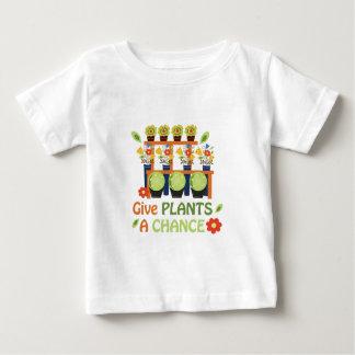 Dé la oportunidad de las plantas playera de bebé