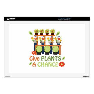 Dé la oportunidad de las plantas skins para 43,2cm portátil