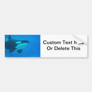 de la orca de la orca azul bajo el agua etiqueta de parachoque