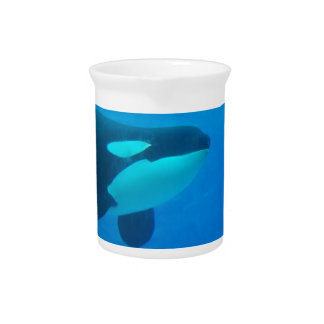 de la orca de la orca azul bajo el agua jarras
