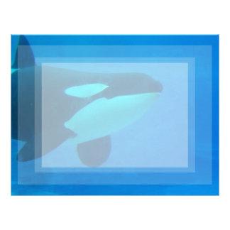 de la orca de la orca azul bajo el agua membretes personalizados