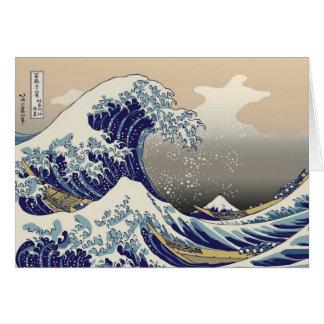 De la orilla de Kanagawa -) del ふがくさんじゅうろっけい del Tarjeta De Felicitación