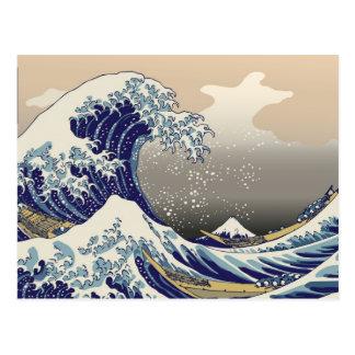 De la orilla de Kanagawa -) del ふがくさんじゅうろっけい del Tarjeta Postal