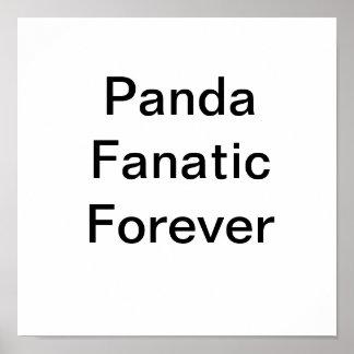 De la panda del fanático poste simple para siempre póster