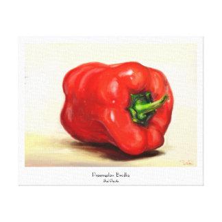 De la paprika roja todavía de la verdura pintura d impresiones de lienzo
