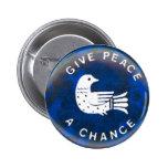 Dé la paz - botón pin redondo de 2 pulgadas
