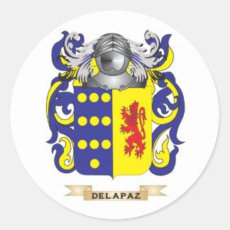 de la Paz Coat of Arms Classic Round Sticker