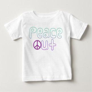 De la paz letras hacia fuera playera