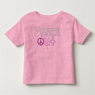 De la paz letras hacia fuera playera de bebé