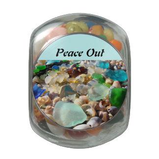 De la paz los favores de fiesta de los amigos de l frascos cristal