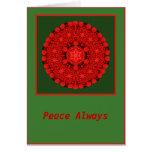 De la paz tarjeta de la mandala del arco del día d