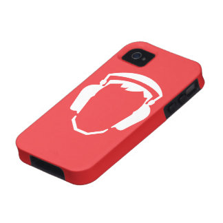 """De la """"pictograma bien escogido protección auditiv Case-Mate iPhone 4 fundas"""