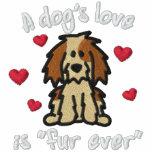 De la piel amor del perro nunca sudadera bordada encapuchada
