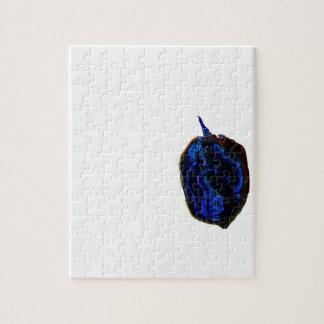 de la pimienta imagen oscura azul de la comida en rompecabeza