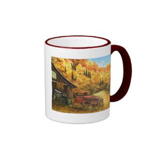 ~ de la pintura al óleo jubilado en la taza