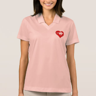 De la pista y en mi logotipo del corazón playeras polo