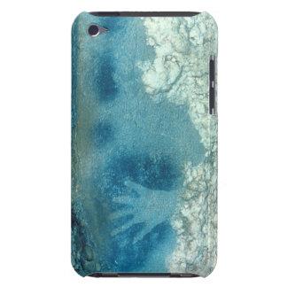 Dé la plantilla, de la sección superior del barely there iPod protectores