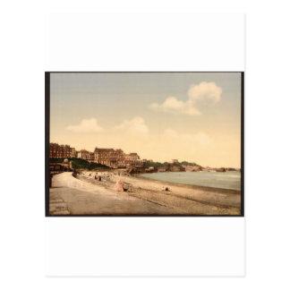 De la playa, Biarritz, los Pirineos, Francia Postal