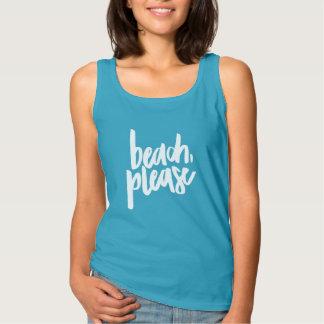 De la playa camisetas sin mangas por favor