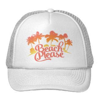 De la playa gorra divertido del camionero de la
