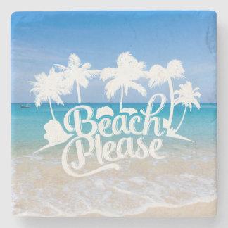 De la playa práctico de costa divertido de la cita posavasos de piedra