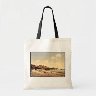 De la playa, vintage de Biarritz, los Pirineos, Fr Bolsa Tela Barata