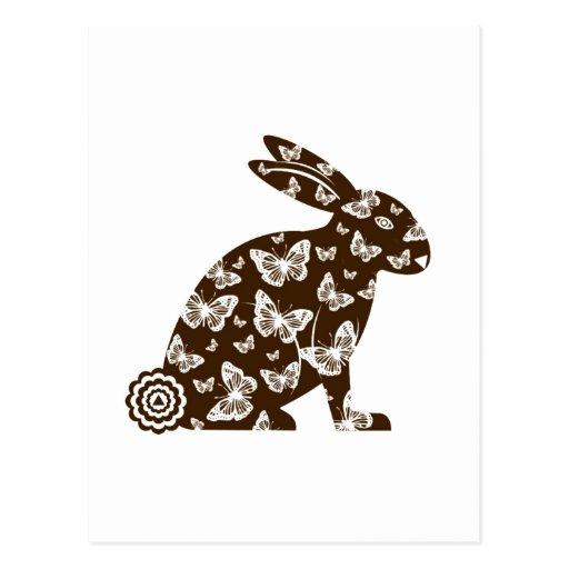 © de la postal del conejito de pascua M. 2012 Mart