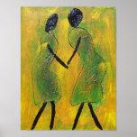De la recepción impresión africana del arte detrás posters