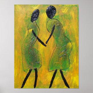 De la recepción impresión africana del arte detrás póster