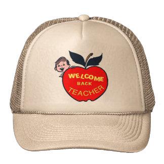 De la recepción profesor detrás gorras de camionero