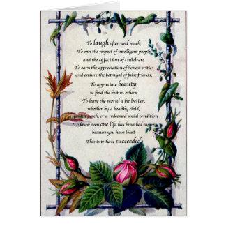 """De la """"risa tarjeta de Emerson a menudo"""""""