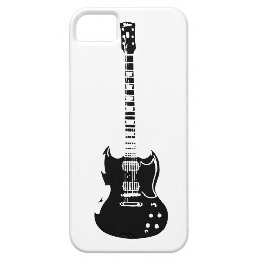 De la roca caja de la guitarra hacia fuera iPhone 5 fundas