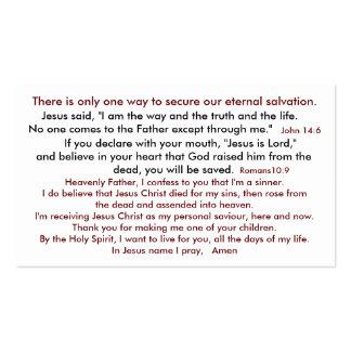 De la salvación cielo 2 así tarjeta de visita
