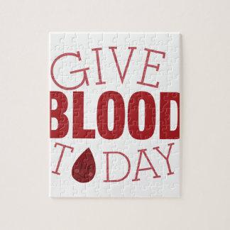 Dé la sangre hoy puzzle