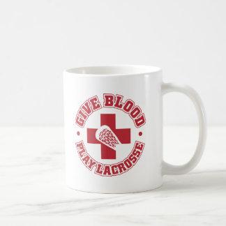 Dé la sangre, juego LaCrosse Taza Clásica