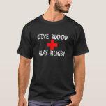 Dé la sangre, rugbi del juego playera