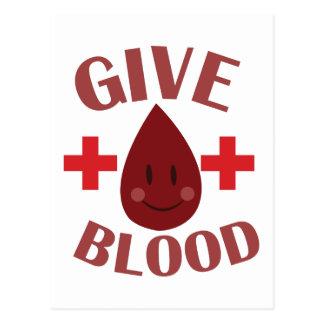 Dé la sangre tarjeta postal