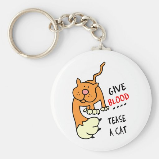 dé la sangre toman el pelo un gato llavero personalizado