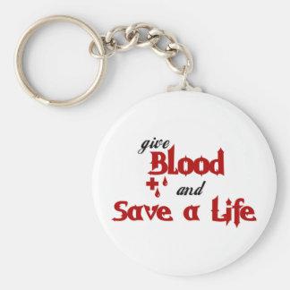 dé la sangre y ahorre una vida llavero redondo tipo pin