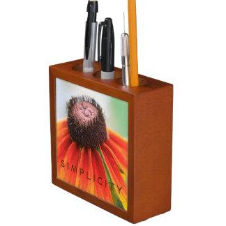 De la simplicidad del Wildflower del lápiz taza Organizador De Escritorio