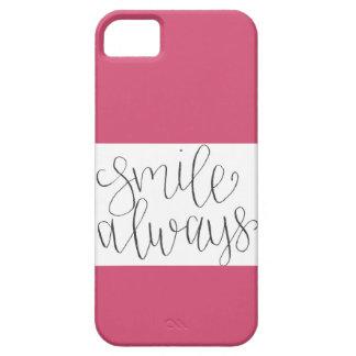 De la sonrisa caso del iPhone siempre iPhone 5 Case-Mate Fundas