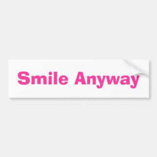 De la sonrisa pegatina para el parachoques de pegatina para auto