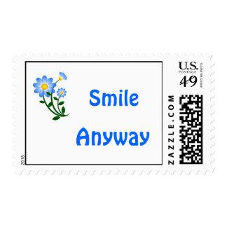 De la sonrisa sello azul de todos modos