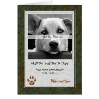 de la tarjeta de la foto del día de padre del perr