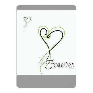 De la tarjeta del amor corazón para siempre anuncios