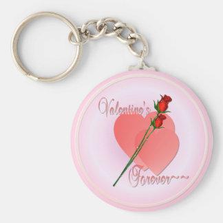 De la tarjeta del día de San Valentín el llavero p