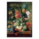 De la tarjeta del vintage todavía del arte flores