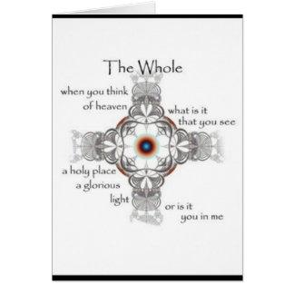 """De la """"tarjeta en blanco entera del arte de la poe"""