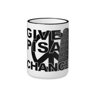 Dé la taza de la ocasión de Pisa - elija el